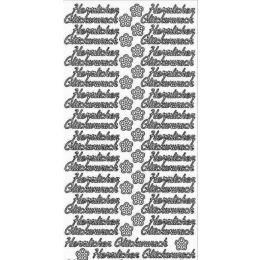 """Sticker Aufkleber klein """"Herzlichen Glückwunsch"""" 10x23cm, 1 Stück"""