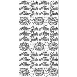 "Sticker Aufkleber ""Alles Gute"" 10x23cm, 1 Stück"