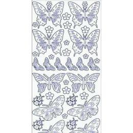 Sticker Aufkleber Marienkäfer+ Schmetterling 10x23cm, 1 Stück