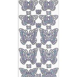 Sticker Aufkleber Schmetterling 10x23cm, 1 Stück