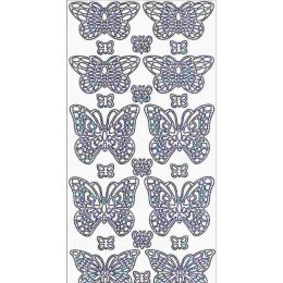 Sticker Aufkleber  Schmetterling 10x23cm, 1 Stück  dunkelgrün