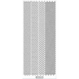 Sticker Aufkleber  Linien zick zack 10x23cm, 1 Stück  gold