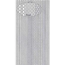 Sticker Aufkleber Rand  10x23cm, 1 Stück  silber