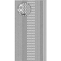 Sticker Aufkleber  Bordure  10x23cm, 1 Stück  silber
