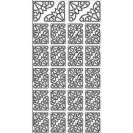 Sticker Aufkleber Ecken drei 10x23cm, 1 Stück