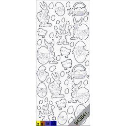 Sticker Aufkleber Oster Figuren 10x23cm, 1 Stück