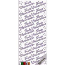 """Sticker Aufkleber """"Frohe Weihnachten"""" 10x23cm, 1 Stück"""