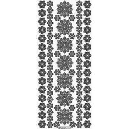 Sticker Aufkleber Schneekristalle 10x23cm, 1 Stück weiß