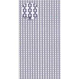 Sticker Aufkleber Rand Sterne 10x23cm, 1 Stück
