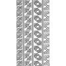 Sticker Aufkleber Weihnachtsecken 10x23cm, 1 Stück...
