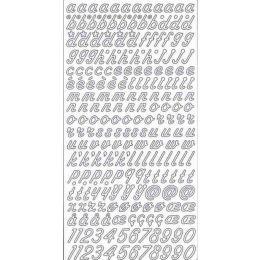 Sticker Aufkleber kleine schräge Buchstaben 10x23cm, 1 Stück