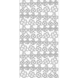 Sticker Aufkleber  Glücksklee 10x23cm, 1 Stück  silber