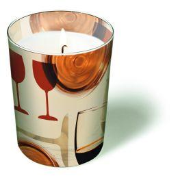 Glaskerze Celebration Wine, d=10,5cm h=8,5cm