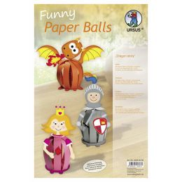 Funny Paper Balls Set Dragon Story, 1 Pack