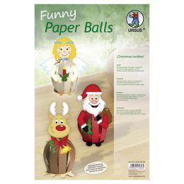 Funny Paper Balls Set Christmas Buddies, 1 Pack