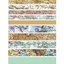 Fröbelsterne Faltstreifen Landkarten, 60 Stück