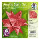 Aurelio Stern Set WEGA rot / rot 15 x 15cm 120g, 33 Blatt