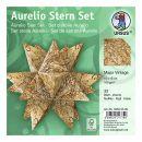 Aurelio Stern Set MAPS VINTAGE 15 x 15cm 100g, 33Blatt