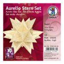 Aurelio Stern Set SWIRL creme / gold 10 x 10cm 110g, 33 Blatt