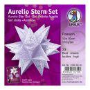 Aurelio Stern Set PASSION silber / hell-lila 10 x 10cm...