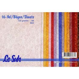 Le Suh A4 Fantasie Papier Kriegels mix 120g/m², 16 Blatt