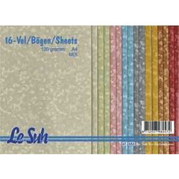 Le Suh A4 Fantasie Papier Fitter mix 120g/m², 16 Blatt