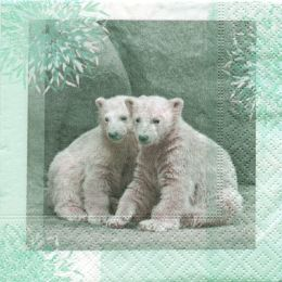 P+ D Serviette, Winter wildlife, 3 lagig, 25x25cm, 1/4 Falz, 20 Stück