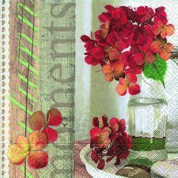 P+ D Serviette, Autumn moments, 3 lagig, 33x33cm, 1/4 Falz