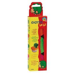 Super-Modelliermasse GIOTTO be-be, Packung mit 3 Stück a 100g, orange, mangenta, grün