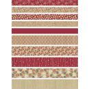 Fröbelsterne Faltstreifen rot / weiss / sand, 60 Stück