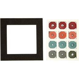 Quilling Set Quadrat rot - grün - harmony, 1 Pack