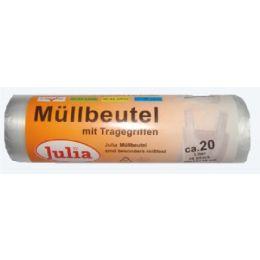 Julia Müllbeutel mit Tragegriffen 20 Liter 20 Stück stark, 1 Rolle
