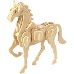 3D Holzpuzzle Pferd, 1 Stück
