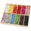 Mini Wäscheklammern sortierte Farben 288 Stück