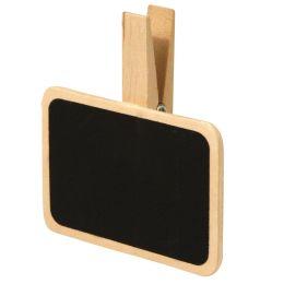 Tafel mit Holz Klammer 6,8 x 4,7cm 1 Stück