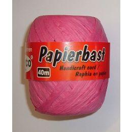 Papierbast pink 40m, 1 Rolle