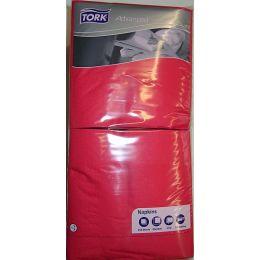 Tork Serviette rot, 3 lagig, 33x33cm, 1/4 Falz, 250 Stück