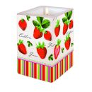 Dekorkerze Strawberries all Over, eckig 8x8x12cm, in...