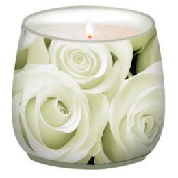 Glaskerze Innocent Rose, d=7cm h=7cm