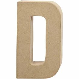 Buchstabe groß Pappmache H=20,5cm, D, 1 Stück