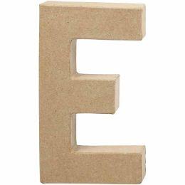 Buchstabe groß Pappmache H=20,5cm, E, 1 Stück
