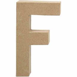 Buchstabe groß Pappmache H=20,5cm, F, 1 Stück