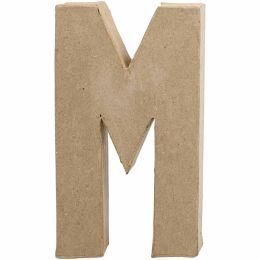 Buchstabe groß Pappmache H=20,5cm, M, 1 Stück