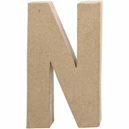 Buchstabe groß Pappmache H=20,5cm, N, 1 Stück