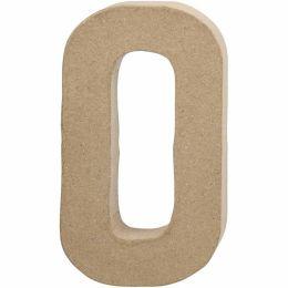 Buchstabe groß Pappmache H=20,5cm, O, 1 Stück