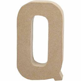 Buchstabe groß Pappmache H=20,5cm, Q, 1 Stück
