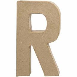 Buchstabe groß Pappmache H=20,5cm, R, 1 Stück