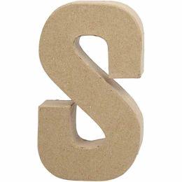 Buchstabe groß Pappmache H=20,5cm, S, 1 Stück