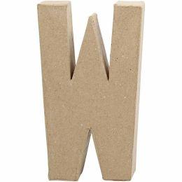 Buchstabe groß Pappmache H=20,5cm, W, 1 Stück