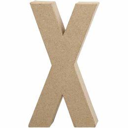 Buchstabe groß Pappmache H=20,5cm, X, 1 Stück
